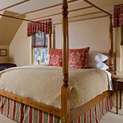 Jackson House Inn -Clara's Corner antique king four-post bed