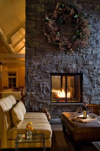 A peaceful retreat by the roaring fire at The Jackson House Inn