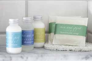 Natural bathroom amenities from Whisper Hill
